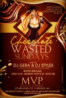 Chocolate Wasted Sun Flyer by DeityDesignz