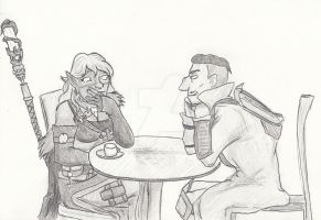 Inktober 22th day - Small talk by trotyiegyed