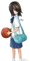 Mysterious Basketball Girl by Merqurian