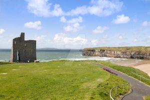 beautiful view of Ballybunion cliffs castle and be by morrbyte