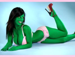 She-Hulk 'Breast Cancer' by TheRezidentEvil