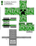 Paper Pezzy- Creeper 'Minecraft' by CyberDrone