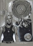 Kara Thrace sketch by DevonneAmos