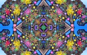 Fractal Trees Kaleidoscope by wolfepaw