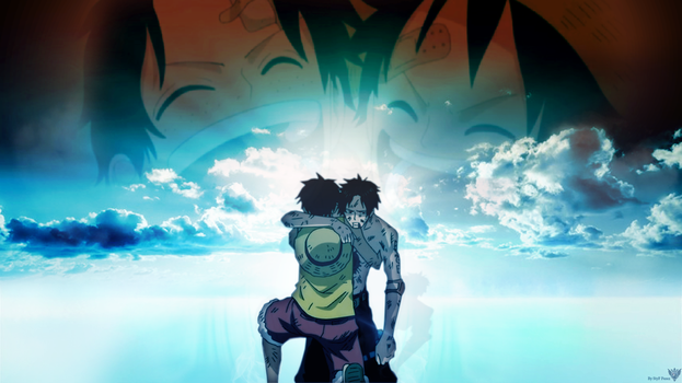Luffy and Ace's Last Moments by StyF17