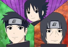 Uchiha Trio by Mizu1993