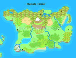 Pixel - Waikato Island Map by firstfear