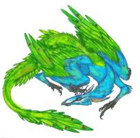 Peacock Dragon by ToothyBeastie