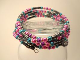 Hematite and Ebead Bracelet 34 by TheSortedBead