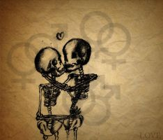 skeleton love by Evalisious8D