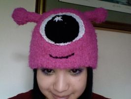 Fuzzy Pink Alien Hat by EricaVee