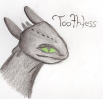 HTTYD: Toothless The Night Fury by kakashisgirlfighter