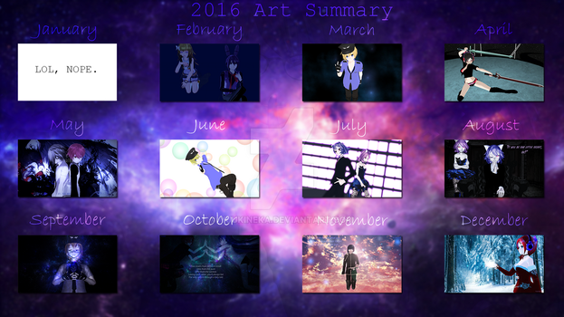 2016 Art Summary by YuukineKA
