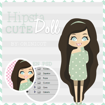 Hipsta Cute Doll By_OriNicot by OriNicot
