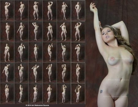 Jessie June 30 Standing Nudes Stock Art Reference by ArtReferenceSource