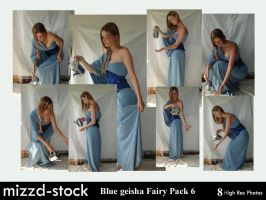 Blue Geisha Fairy Pack 6 by mizzd-stock