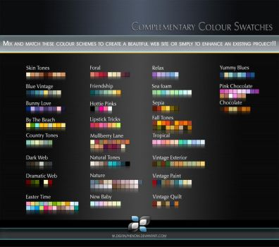 Complementary Colour Swatches by DigitalPhenom