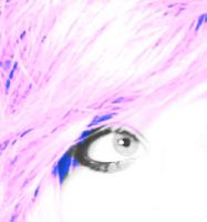 my eye and pink hair. by iheartgeorgesampson