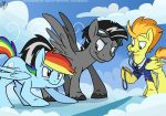 [COM-PONY] Silverwing vs. Rainbow Dash (by Sophie) by maxyote