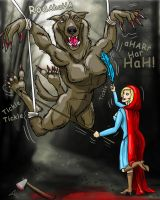Red Riding Hood -VS- Big Bad Wolf by Fantasy-Play