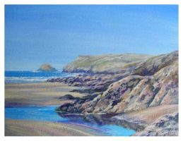 Polzeath and Pentire by Krystalvoyager