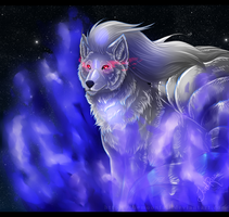 A wild cosmic shiny ninetales appears! by TheMoonfall
