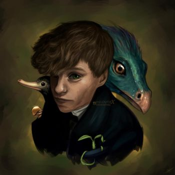 Newt Scamander - Fantastic Beasts by miloutjexdrawing