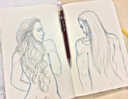 Doodle of the day - Queen and King by Cris-Nicola