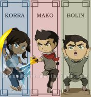 Chibi Legend of Korra bookmarks by AznCeestar