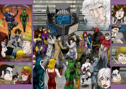 A bunch of heroes by marcosgratao