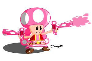 Shroom Guns (Toadette Style) by Dee-Artist