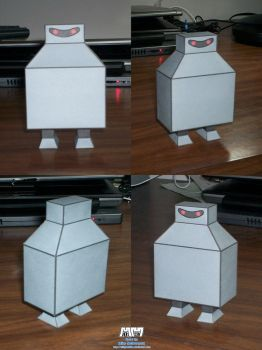 Futurama Boxy Robot Assembled by billybob884