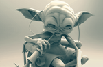 Steampunk Yoda WIP 002 by Nick-A-D