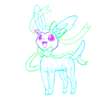 Practice in paint tool SAI 1 - Sylveon by shamanger