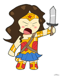Chibi Wonder Woman Gal Gadot REVISED by LaserGunsPewPew18