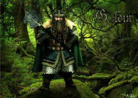 Gloin the dwarf by adlpictures