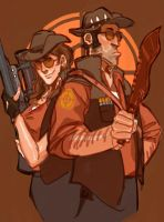 sniper and sniper by Silsol