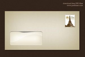 Blank Envelope Template (PSD) by psdblast