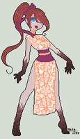 Some zombie kimono girl adopt by octopus-jizz