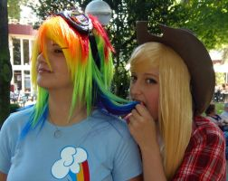 Rainbow Dash and Applejack by Evilarticfox