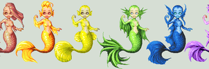 Mermaid Batch 4 by bunnystick
