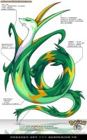 Pokedex 497 - Serperior FR by Pokemon-FR