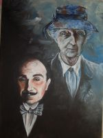 M. Poirot and Miss Marple by aniko385