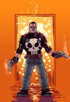 Punisher on fire by alexsantalo