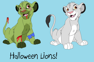 Halloween Lions!! by BlackWolf1112-ADOPTS