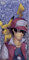 PKMN trainer Red wants to battle! by SUPARIO