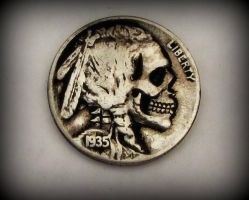 1935 Indian Skull Hobo Nickel! by JBExpress