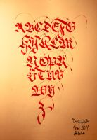 abc calliigraphy by omerfarukciftci