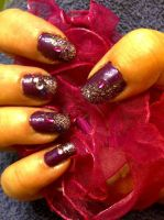 Nailartpurplediagonal by CarpeComma