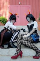 Steampunk! Aranea and Meenah by MerBK201